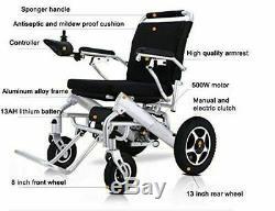 2019 Portable Folding Electric Wheelchair Wheel chair Lightweight Aid Foldable