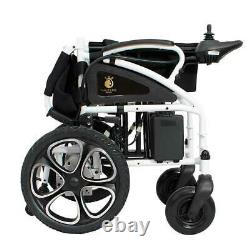 2020 New Premium Black Foldable Lightweight Electric Wheelchairs