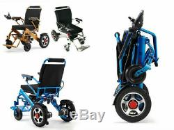 2020 Portable Folding Electric Wheelchair Wheel chair Lightweight Aid Foldable