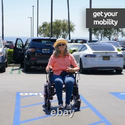 2021 New FDA Approved Blue Foldable Lightweight Electric Scooter Wheelchairs