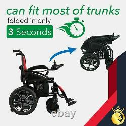 2021 New Ultra Red Foldable Lightweight Electric Wheelchairs