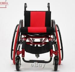 24 Sports Athletic Wheelchair Foldable Aluminum Alloy Lightweight Trolley