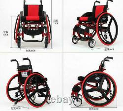 24 Sports Athletic Wheelchair Foldable Aluminum Alloy Lightweight Trolley AU1