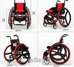 24 Sports Athletic Wheelchair Foldable Aluminum Alloy Lightweight Trolley GB
