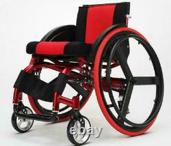 24 Sports Athletic Wheelchair Foldable Aluminum Alloy Lightweight Trolley USA