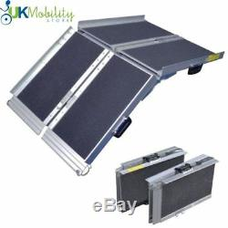 4ft Folding Lightweight Wheelchair Mobility Scooter Suitcase Access Ramp