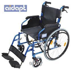 AIDAPT Blue Deluxe Lightweight Self Propelled Aluminium Wheelchair VA165BLUE