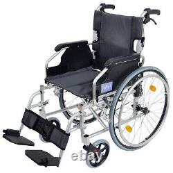 AIDAPT Silver Deluxe Lightweight Self Propelled Aluminium Wheelchair VA165SILVER