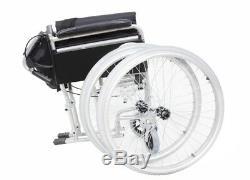 AMW002S Lightweight Aluminium Self Propelled Folding Wheelchair Removable Wheels
