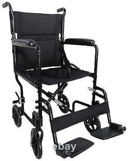 Aidapt Lightweight Aluminium Folding Compact Transport Wheelchair 5 Colours