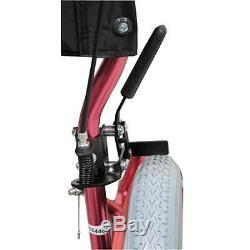 Aidapt Lightweight Compact Aluminium Wheelchair Attendant Brakes Pink
