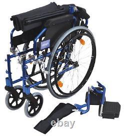 Aidapt Lightweight Self Propelled Aluminium Wheelchair Blue VA165BLUE