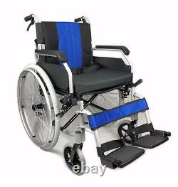 Aluminium Folding Wheelchair Self Propelled Lightweight Transit Hand Brake