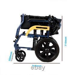 Aluminium Manual Travel Wheelchair Lightweight Fully Folding Attendant Room Save
