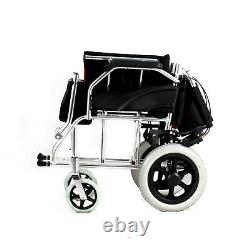 Aluminium Wheelchair Lightweight and Foldable Frame Attendant Attendant Chair