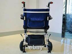 Blue 18kg Portable High Quality Lightweight Folding Electric Wheelchair 500W
