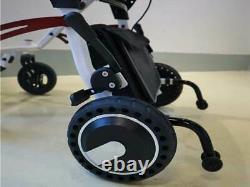 Blue 18kg Ultra Lightweight High Power 500W Portable Folding Electric Wheelchair