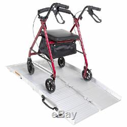 Clever Aluminium Lightweight Multi-Fold Wheelchair and Mobility Scooter Ramp