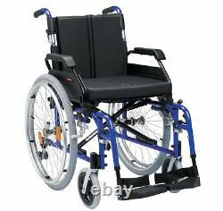 Comfortable Padded XS Lightweight Self Propel Wheelchair Blue 18 inch Seat