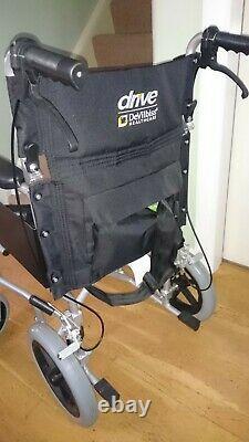 Drive DeVilbiss Lightweight Aluminium Transit Wheelchair