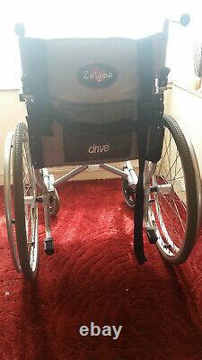 Drive Enigma Ultra Lightweight Aluminium Transit Wheelchair (17 inch seat width)