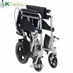 Drive Expedition Plus Lightweight Folding Aluminium Transit / Travel Wheelchair
