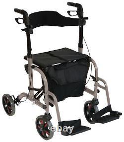 Duo 2 in 1 rollator / lightweight folding walker wheelchair walking aid EX DEMO