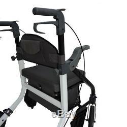EC Fusion 2 in 1 walker wheelchair combination walking aid rollator hybrid