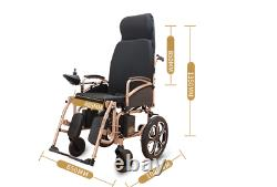 Electric Power Folding Wheelchair Lightweight Mobility Aid Motorized 2