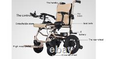 Electric Power Folding Wheelchair Lightweight Mobility Aid MotorizedNew4