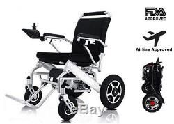Electric Wheelchair Power Wheel chair Lightweight Mobility Aid Foldable Folding