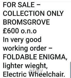Electric lightweight folding Wheelchair G. W. O