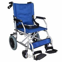 Elite Care EC1863 Folding Lightweight transit wheelchair with brakes under 10kg