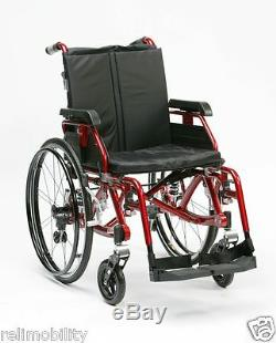 Enigma K Chair Full Suspension Lightweight Aluminium Wheelchair Red