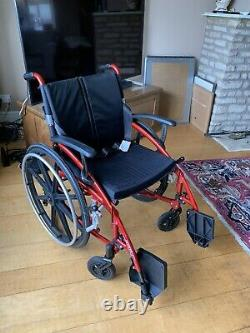 Enigma Spirit Lightweight Aluminium Folding Self Propelled Wheelchair Red. Used
