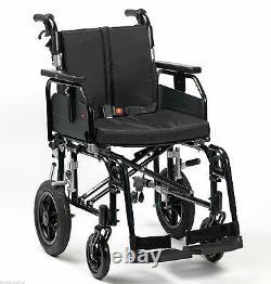 Enigma Super Deluxe 2 Lightweight Aluminium Folding Transit Wheelchair