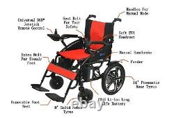 Foldable Electric Power Wheelchair Lightweight Heavy Duty Mobility Wheelchair