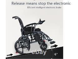 Foldable Electric Wheelchair HeavyDuty Lightweight Mobility Folding Power Chair5