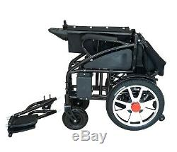 Foldable Electric Wheelchair Lightweight Heavy Duty Durable Powerchair BLUE