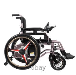 Foldable Lightweight Portable Dual Battery 24V 20Ah Electric Power Wheelchair7