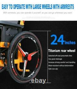 Foldable Portable Lightweight Electric Power Wheelchair Mobility Aid Motorized