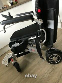 Foldalite Pro Electric Wheelchair Powerchair Lightweight Folding Travel Lithium