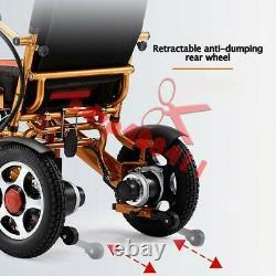 Folding Lightweight Electric Power Wheelchair Old Elderly Disabled Wheelchair