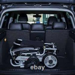 Freedom Chair AO6L, Lightweight Folding Powered Wheelchair with Headrest