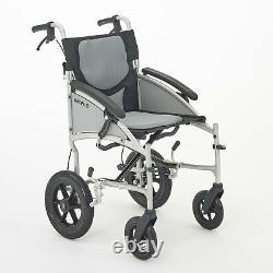 I-GO Airrex LT Lightweight Folding Puncture Proof Transit Wheelchair 16 18 20
