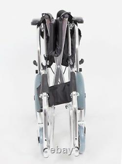 Lightweight Aluminium Folding Transit Travel Wheelchair 8kg