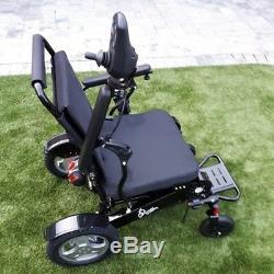 Lightweight Folding Powered Wheelchair. Almost 21 Between Armrests. 2 Batteries
