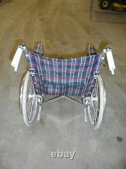 Lightweight Folding Wheelchair With Folding Back & Foot Supports