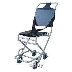 Lightweight Folding narrow Ambulance evacuation chair with 4 castors Roma 1824