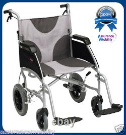 Lightweight Modern Transit Wheelchair Attend Brakes With 20 inch Wide Seat